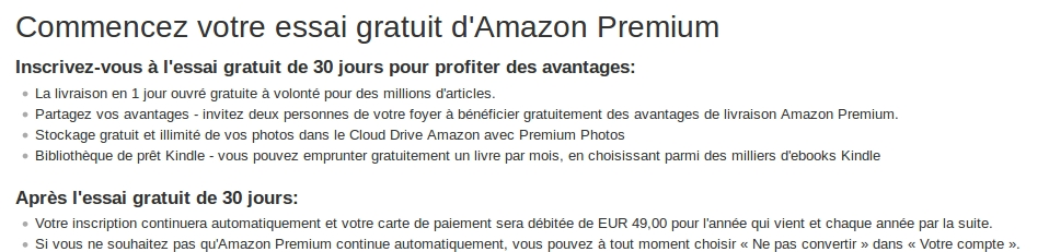 49euros amazon prelevement