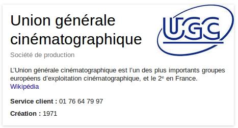 Informations UGC