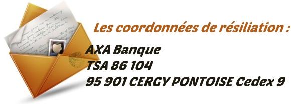 adresse resiliation AXA