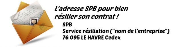 adresse resiliation SPB