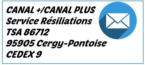 adresse resiliation canal