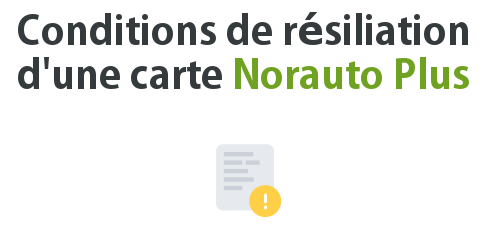 condition resiliation carte norauto plus