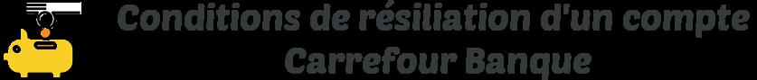 conditions resiliation compte carrefour banque