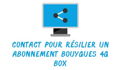 contact résilier abonnement 4G box