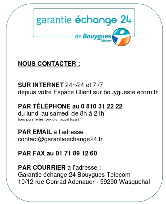 contacter new asurion bouygues