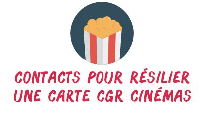 contact résilier carte cgr cinémas