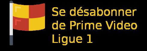 désabonnement offre Prime Video Ligue 1