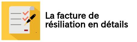 facture resiliation edf