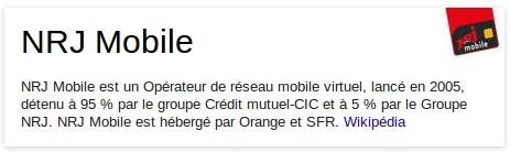 info nrj mobile