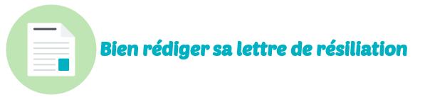 lettre resiliation