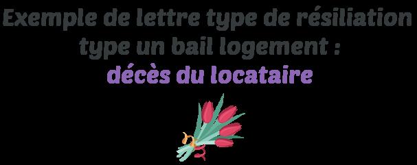 Lettre Type De Resiliation D Un Bail Logement En Cas De Deces Du