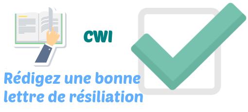 lettre resiliation cwi