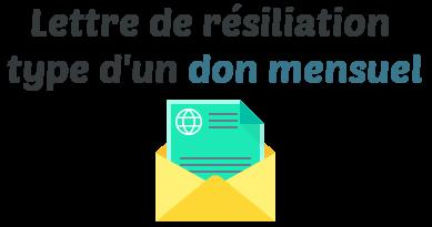 lettre resiliation don