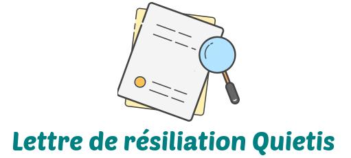 lettre resiliation quietis