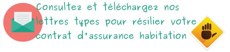 lettre type assurance habitation