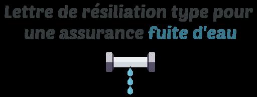 lettre type resiliation assurance fuite eau