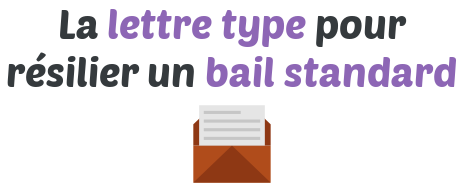 lettre type resiliation bail standard