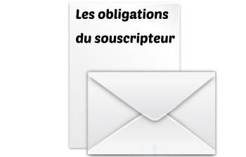 obligation souscripteur