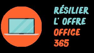 résiliation office 365