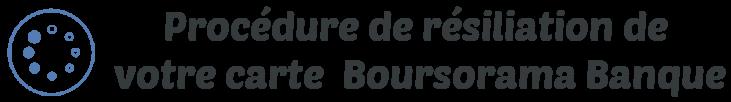 procedure resiliation carte boursorama