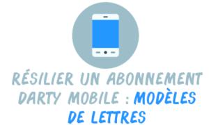 résilier darty mobile lettre