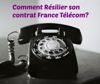 resiliation france télécom