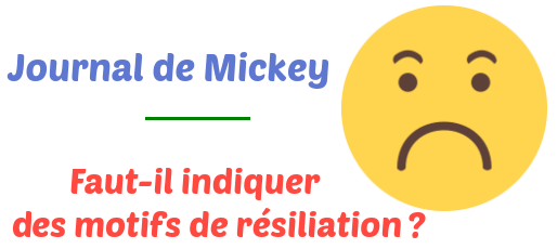 resiliation journal mickey