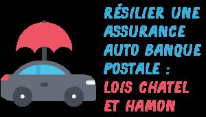 Résilier assurance auto Banque Postale lois Chatel Hamon