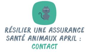 résilier assurance santé animaux April contact