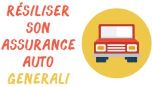 résilier assurance auto generali