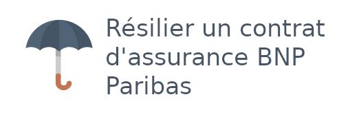 résilier assurance bnp paribas
