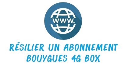 résilier abonnement 4G box
