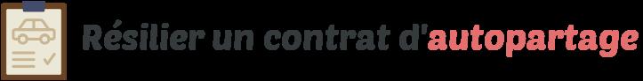 resilier contrat autopartage