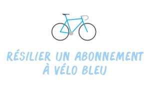 résilier vélo bleu