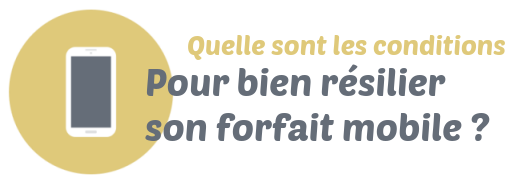 resilier forfait mobile