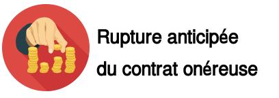 rupture anticipée contrat Auchan onéreuse