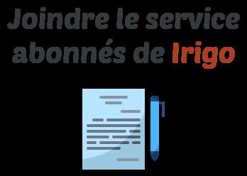 service abonne irigo