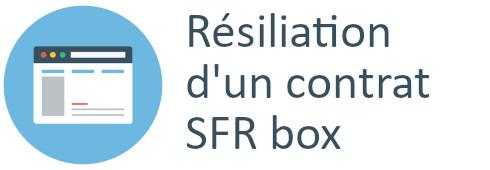 résiliation contrat sfr box