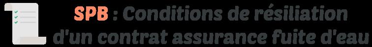 spb conditions resiliation assurance