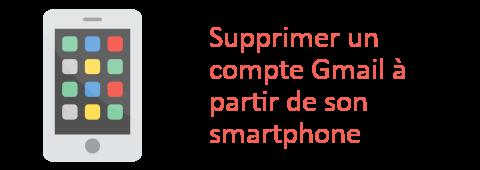supprimer gmail smartphone