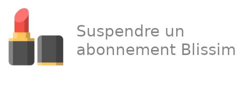 Suspendre abonnement Blissim