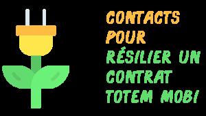 contacts résiliation